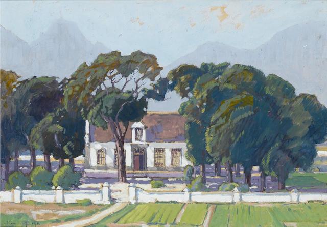 Jacob Hendrik Pierneef (South African, 1886-1957) Cape Dutch house