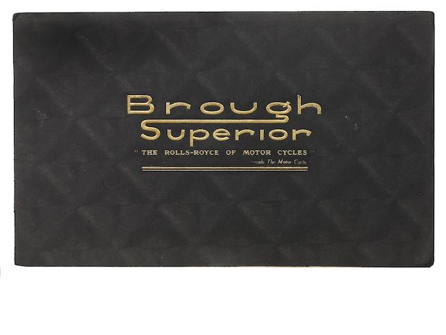 A 1938 Brough Superior range brochure,