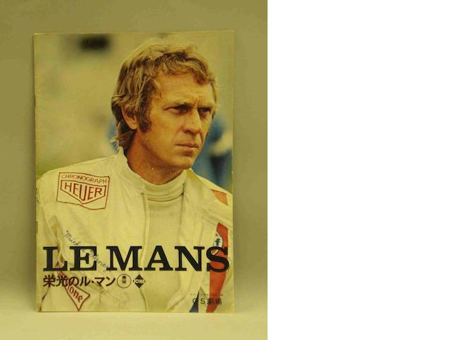 A booklet for the film 'Le Mans',