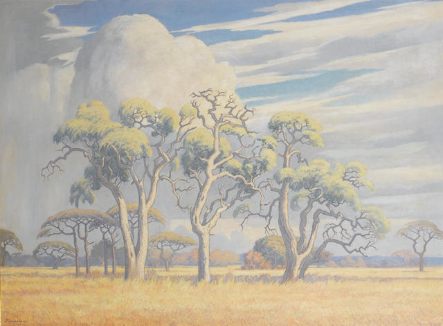 Jacob Hendrik Pierneef (South African, 1886-1957) Bushveld landscape