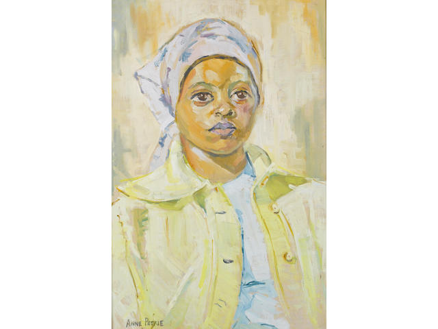 Helen Anne Petrie (South African, 1932-2006) A Coloured girl wearing a headscarf