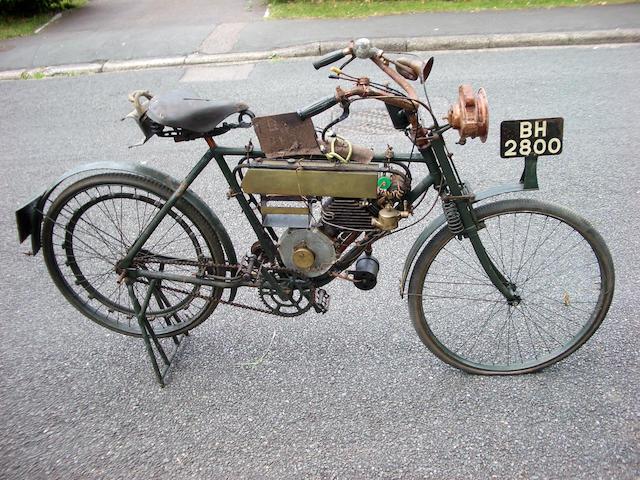 c.1908 Motosacoche 300cc  Frame no. F5867 Engine no. 4301