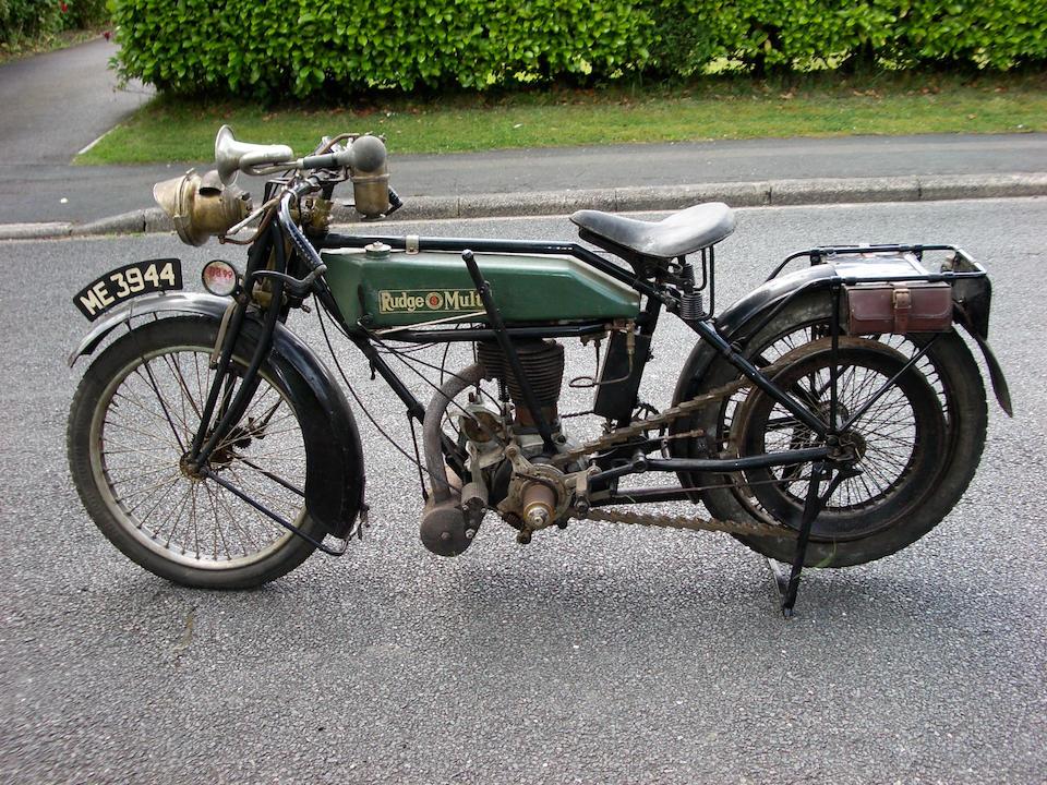 1922 Rudge Multi 497cc TT Model  Frame no. C 805577 Engine no. 24681
