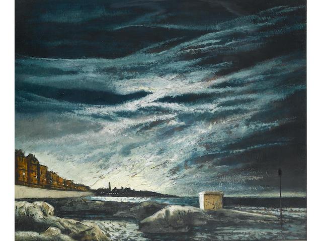 Daniel O'Neill (Irish, 1920-1974) Bangor evening 51 x 60 cm. (20 x 23 3/4 in.)