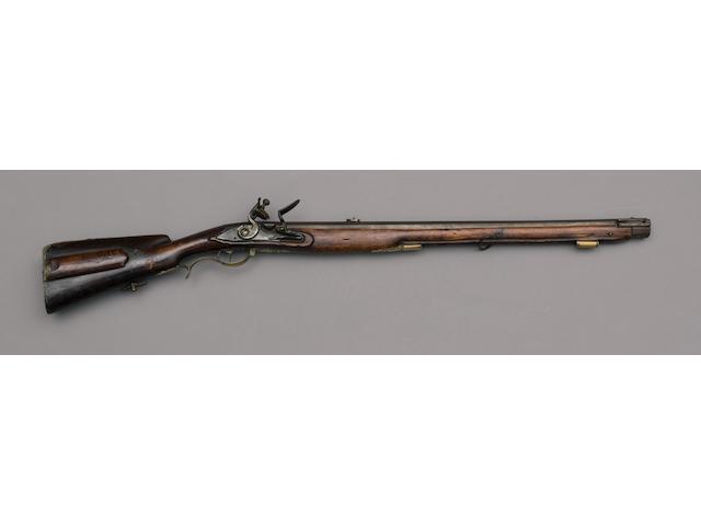 A Rare Russian Flintlock Rifled Jaeger Carbine