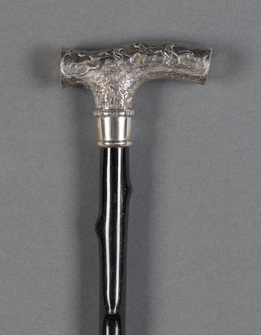 Silver racing horse walking cane
