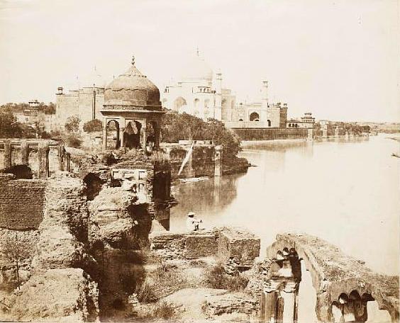 AGRA  The Taj Mahal from the bank of the Jumna by John Murray, c.1858-1862