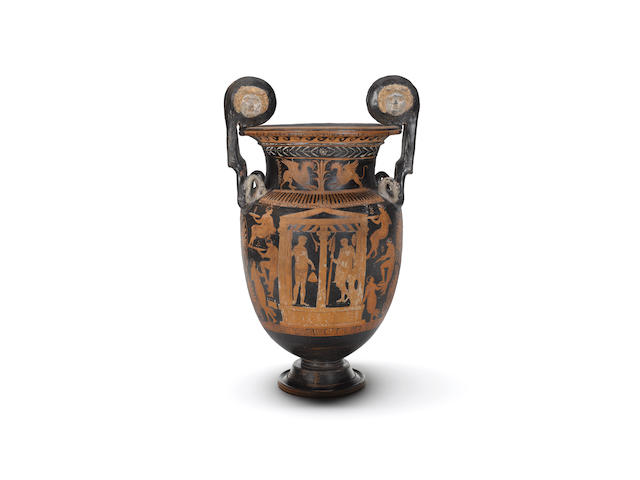 A large Apulian red-figure volute krater