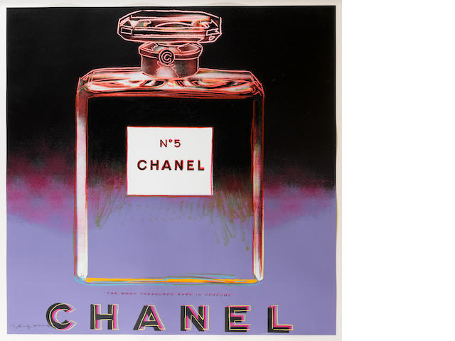 Andy Warhol  (Estate) (American) Chanel from 'Ads 1985' screenprint, on Lennox Museum Board, signed