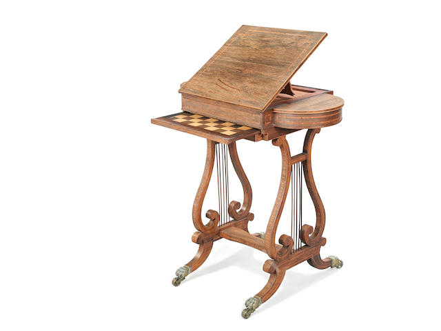 A good Regency rosewood work table circa 1810