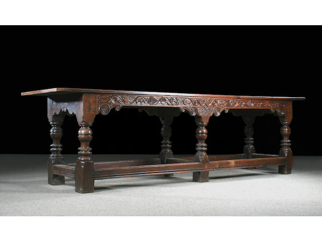 A 17th Century style oak refectory table