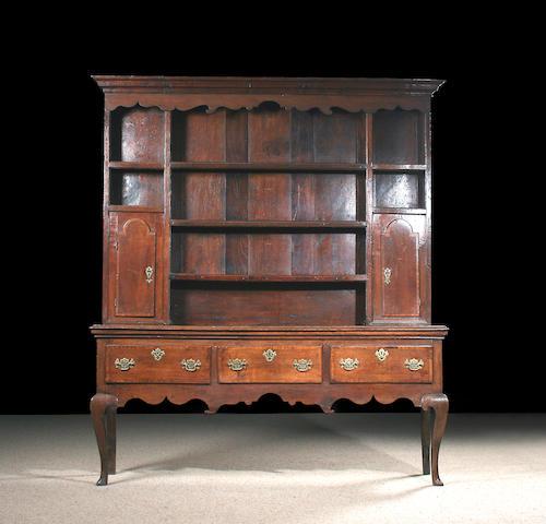 An oak high dresser, late 18th Century