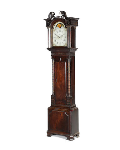 A late 18th century mahogany longcase clock Thomas Lawson, Keighley