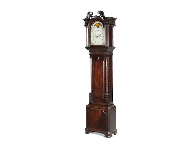 A late 18th century mahogany longcase clock Thomas Lawson, Keighley