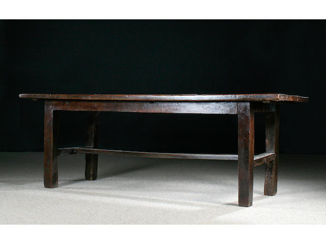 A late 18th/early 19th Century oak farmhouse table