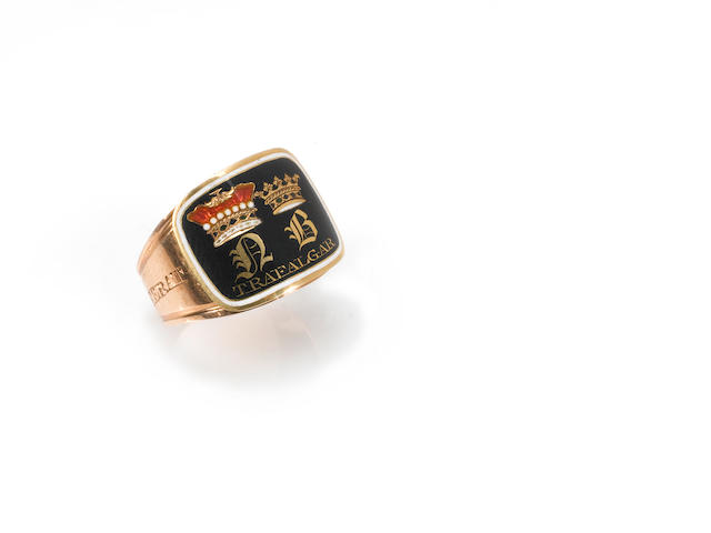 A gold mourning ring, Admiral Nelson