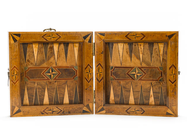An 18th century South German walnut games board