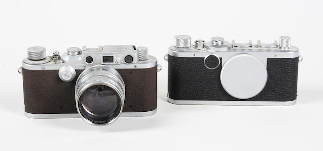 Leica 111A and 1c cameras