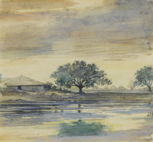 M. V. Dhurandhar Three Deccan Landscapes (3)