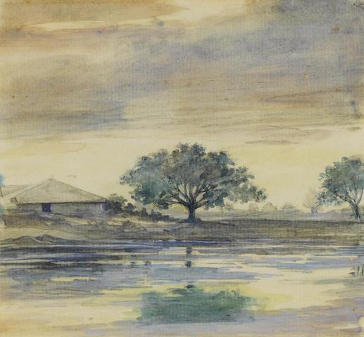 M. V. Dhurandhar Three Deccan Landscapes (3)