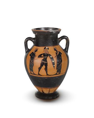 An Attic black-figure belly amphora