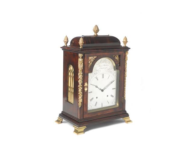 A 19th century Scottish fruitwood bracket clock James Whitelaw, Edinburgh