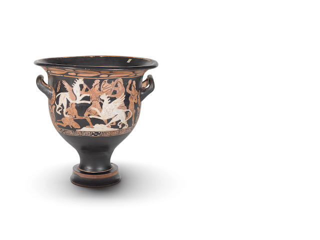 A large Attic red-figure bell krater