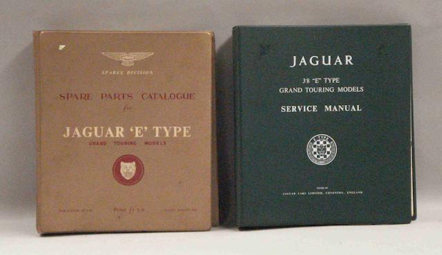 Two items of Jaguar E Type technical literature,