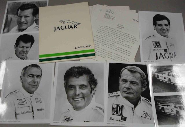 A Press Pack for the 1985 Jaguar Le Mans assault,