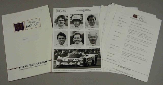 A Press Pack for the 1987 Jaguar Le Mans assault,