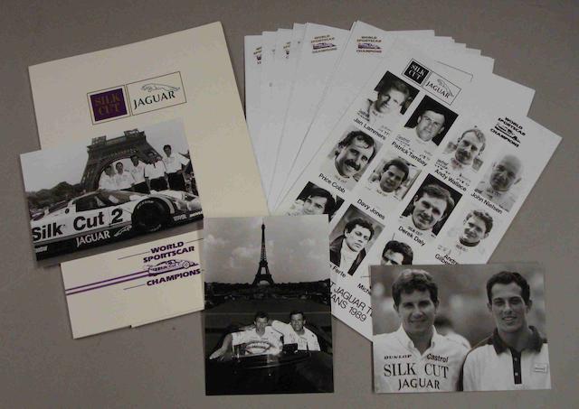 A Press Pack for the 1989 Jaguar Le Mans assault,
