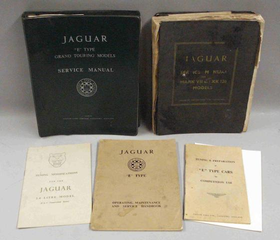 A lot of Jaguar technical literature,