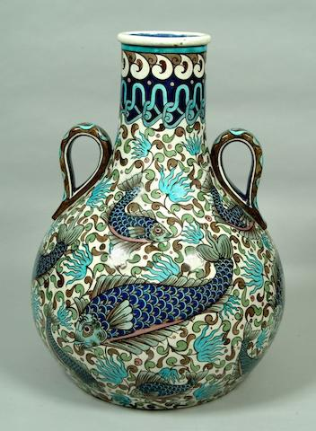 A massive and impressive Burmantofts Persian style vase