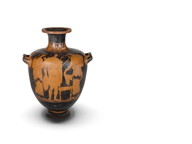 A large Apulian red-figure hydria
