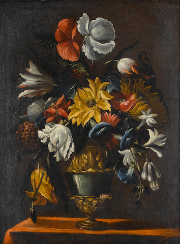 Circle of Mario Nuzzi (Roma circa 1603-1673) A sunflower, convolvulus, poppies and other flowers