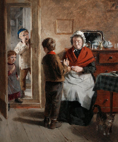 William Hemsley (British, 1819-1893) Divided attention