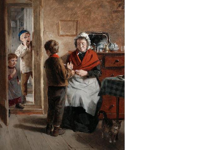William Hemsley (British, 1819-1893) Divided attention