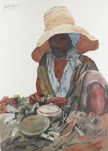 Erich Wolfsfeld (German, 1884-1956) A Libyan man