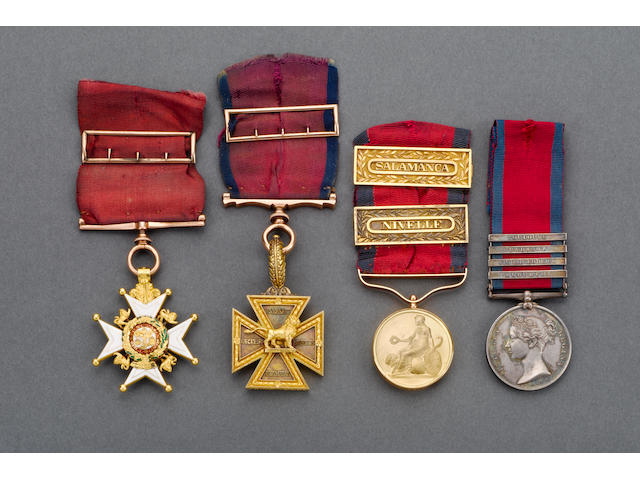 The superb Peninsula War group of awards to Major Thomas Bell, 48th Foot,
