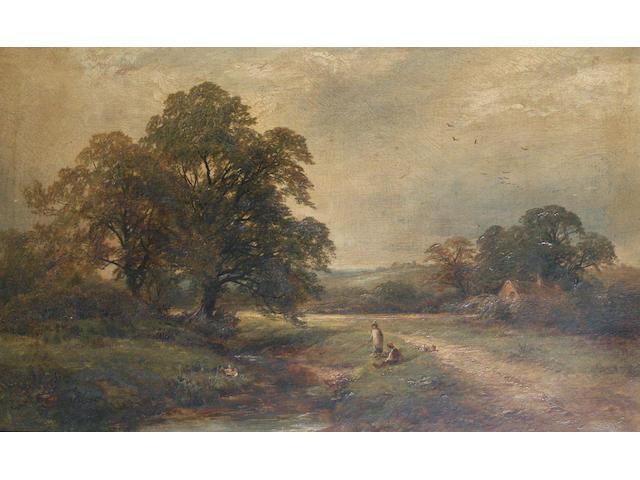 George Turner (British, 1843-1910) 'At Twyford, Derbyshire'