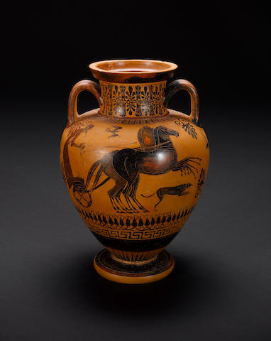 An Attic black-figure neck amphora