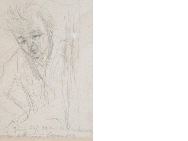 Lesser Ury (German, 1861-1931) Study of a gentleman