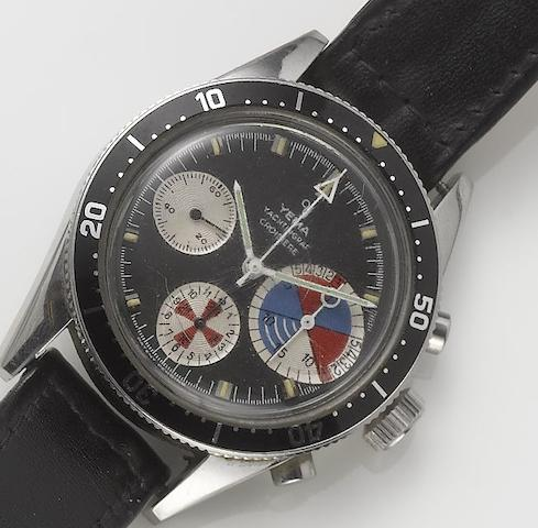 Yema. A stainless steel yachting chronograph wristwatch  Yachtingraf Croisiere, 1960's