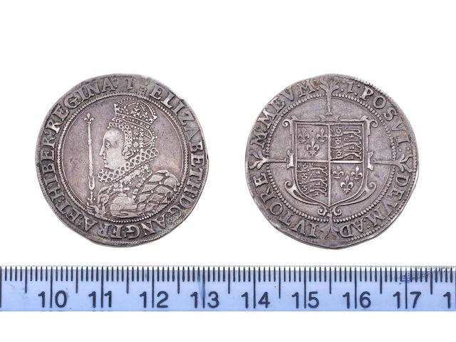 Elizabeth I, sixth issue (1601-02), Halfcrown, 15.0g , crowned bust left holding sceptre and orb, ELIZABETH D G ANG FRA ET HIBER REGINA,