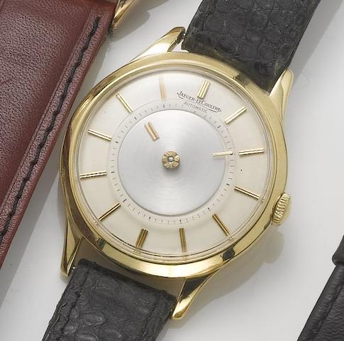 Jaeger leCoultre. An 18ct gold automatic mystery dial wristwatch1960's