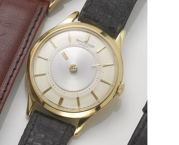 Jaeger leCoultre. An 18ct gold automatic mystery dial wristwatch 1960's
