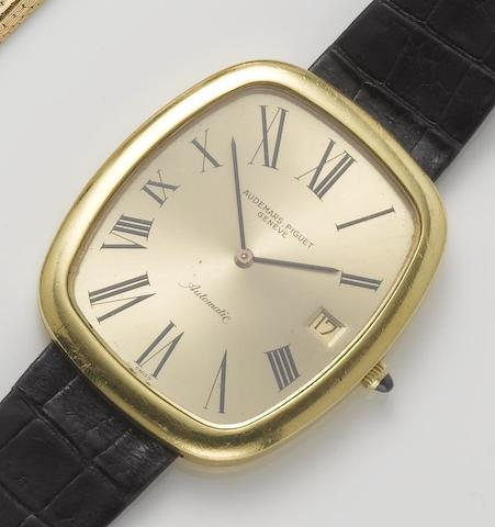 Audemars Piguet. An 18ct gold over sized automatic calendar wristwatch 1970's
