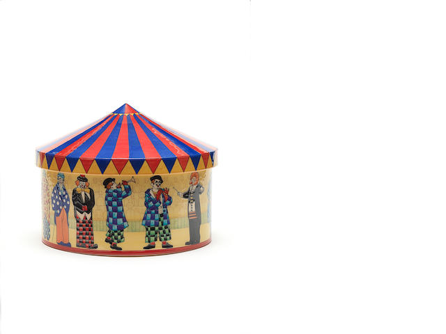 Sally Tuffin  'Circus with Clowns Big Top' a box and cover, 2008