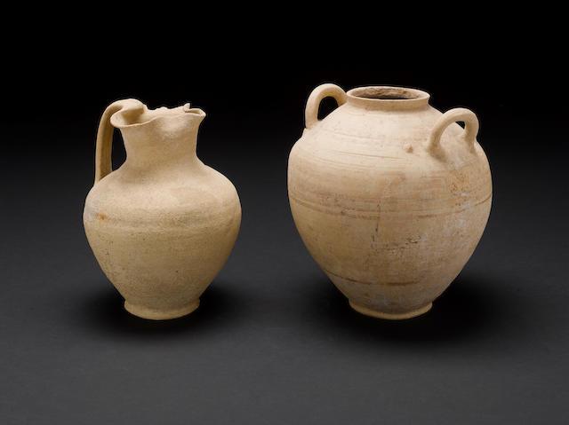 Two Roman white ware vessels 2