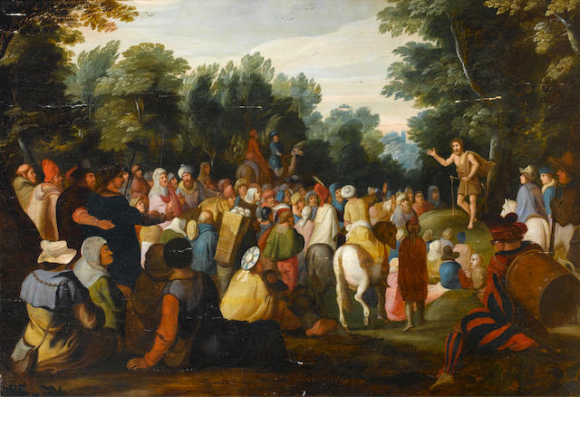 Circle of Frans Francken II (Antwerp 1581-1642) Saint John the Baptist preaching to the multitude